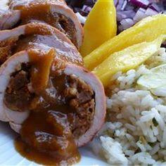 Pork Tenderloin Cubano with Mango Mojo Allrecipes.com