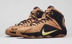 Nike LeBron 12 XII EXT King's Cork Mens Sz 11 (768829-100) Gold Black Basketball