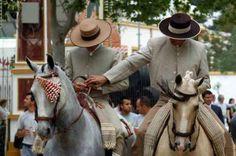 "Feria de Jerez 2012. Feria del Caballo The swinging ""fly swishers"" indicate good head carriage."