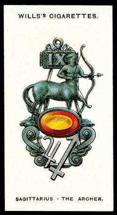 Cigarette Card - Sagittarius, The Archer by cigcardpix, via Flickr