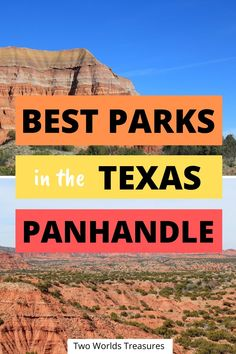 Besides Palo Duro Canyon, these 3 other top parks in Texas Panhandle should be in your bucket list, incl. the first National Monument in Texas. Texas Roadtrip, Texas Travel, Travel Usa, Travel Logo, Beach Travel, Travel Guides, Travel Tips, Travel Destinations, Travel Abroad