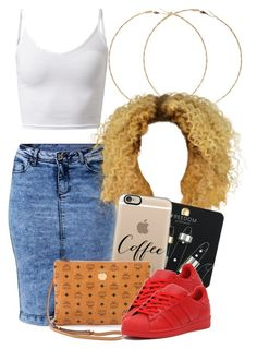 """""""9 9 15"""" by miizz-starburst ❤ liked on Polyvore featuring Forever 21, Topshop, Casetify, MCM and adidas Originals"""