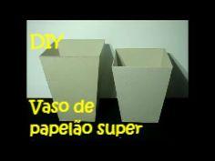 DIY - Passo a passo fácil e simples de fazer de um vaso de papelão- completo - YouTube