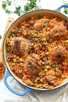 Spanish Chicken and Rice Recipe   http://foodiecrush.com