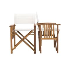 Sedia-regista-legno-poltrona-pieghevole-seduta-imbottita-coppia-set-per-giardino