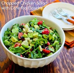 Chopped Chicken Salad with Cafe Rio Flavors