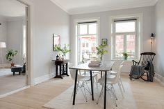 Un bonito apartamento sueco, blanco
