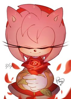 """"""" ~ Hanybe."""" This is one of the best drawings of Amy Rose that I've ever seen! :D"""