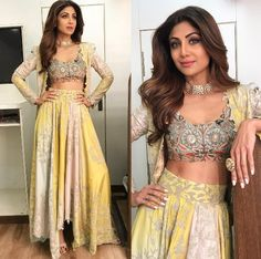 These Shilpa Shetty Ensembles Are Perfect Outfit Inspiration For Brides, Except Wedding Day! Pakistani Dresses, Indian Dresses, Pakistani Bridal, Western Dresses, Pakistani Suits, Punjabi Suits, Indian Bridal, Indian Wedding Outfits, Indian Outfits