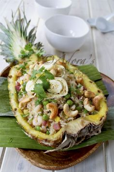 never thought to put something savory in something sweet.  Thai style pineapple fried rice