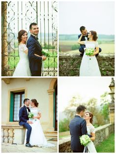 Wedding Dress by Raimon Bundo and tuxedo by Fragomeni Atelier. Fresia bouquet. Villa Montruglio in Mossano, Vicenza, Veneto