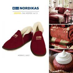 Nordikas  Confort Nordikas Rojo. #Nordikas #Lifestyle #Red #Piel #Calzadodehogar #Trend #MadeInSpain #FW1415