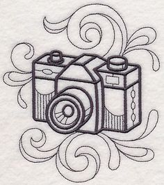 Doodle Camera design (M7944) from www.Emblibrary.com