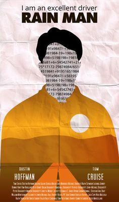 Film Poster Rain Man 02 https://cinemablabla.wordpress.com/2014/09/07/un-film-une-affiche-rain-man-de-barry-levinson/