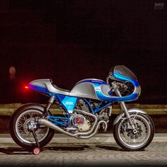 Not sold on the original Ducati SportClassic? Here's another way to cut that tasty retro cake: a from Italy's Digging the hints of too. Tracker Motorcycle, Motorcycle Posters, Ducati Motorcycles, Vintage Motorcycles, Ducati Cafe Racer, Cafe Racers, Ducati Sport Classic, Motorcycle Wallpaper, Street Tracker