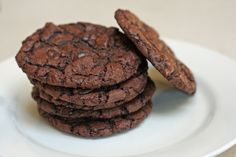 Brownie mix cookies, almost as good as Great American Cookie Company's Chewy Chocolate Supreme!