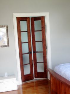 Bed and bath door with frosted glass here s the pretty french doors