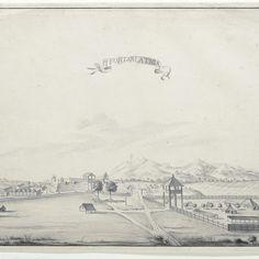 Gezicht op het fort Salatiga, A. de Nelly (possibly), 1762 - 1783 - Rijksmuseum