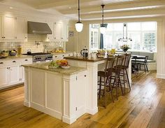 two tier island, countertop/storage extension, bench - like the combo of seating and storage