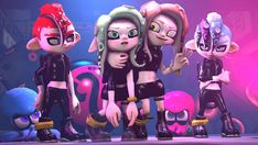 Octo friends by on DeviantArt Splatoon 2 Game, Splatoon Comics, Splatoon Memes, Funny Gaming Memes, Funny Games, Splatoon Squid Sisters, Undertale Fanart, 3 Arts, Super Mario Bros