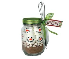 Snowman Hot Chocolate Jar / Gift Basket idea