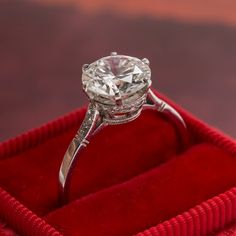 Queens Park Vintage Solitaire Diamond Engagement Ring from Trumpet & Horn