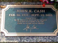 Johnny's grave stone in Hendersonville, Tn.