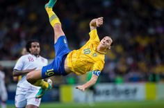 Defying gravity... Zlatan. :)