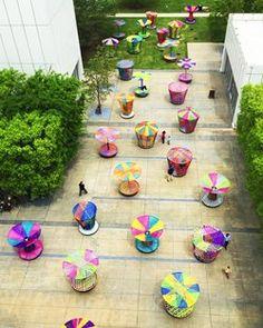 Los Trompos Spinning Tops, Atlanta, 2015 - Esrawe + Cadena / installation