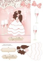 Blushing Bride - easy step by step decoupage sheets http://www.craftsuprint.com/card-making/step-by-steps/wedding/449932-blushing-bride.cfm