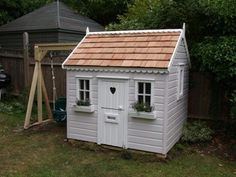 Pygmy goat house ideas on pinterest play houses wendy for Wooden wendy house ideas