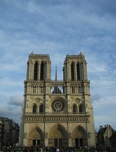 Parisian gray: Notre Dame cathedral