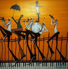 new orleans second line painting - Google Search