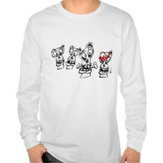 Long sleeved t-shirt four skulls design
