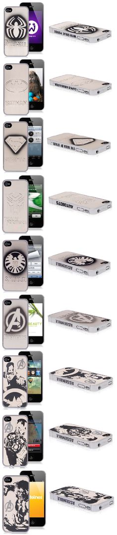 Super Heros iPhone 4 Cases : Superman, Batman, Spiderman, Avengers Cover Cases for iPhone 4 and iPhone 4S $5.47