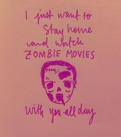 Zombie Movie Valentine's Day Card