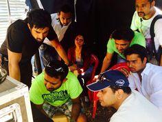 Shooting of 3AM song — with Vishal mahadkar and Prasanna sujit.