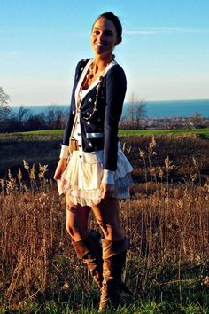late summer/fall layering fall style cardigan dress knee high boots
