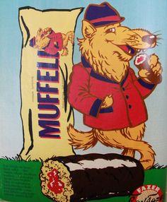 Muffeli vuodelta 1985 Suklaakuorrutteinen kakkupatukka jonka sisällä oli kuningatarhilloa - muistaakseni oikein maukasta