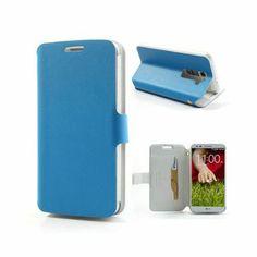 Pacific (Blauw) LG G2 Echt Leer Flip Case