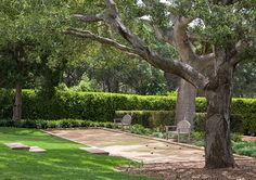 great backyard bocchi ball space, Landscaping Design Tips from Margie Grace - Traditional Home