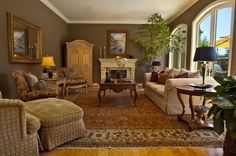 Traditional Living Room with Persian Rug by Brownhouse Design