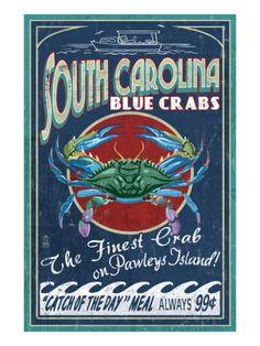 Pawleys Island, South Carolina - Blue Crabs