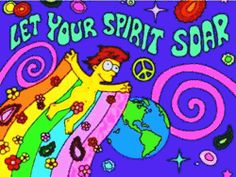 trippy rainbow weed ganja lsd high simpsons homer shrooms acid psychedelic space stars trip flowers peace earth tripping spirit psychedelics soar