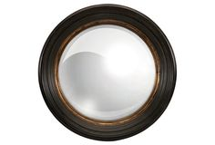 Noah Wall Mirror, Espresso/Gold