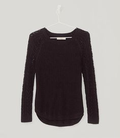 Primary Image of Cable Sleeve Sweater