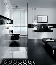 Black And White Bathroom Design Black White Modern Bathroom Design