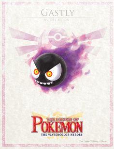 Digital watercolor type, croosover of pokemon and legend of zelda. Ghost Pokemon, O Pokemon, Pokemon Comics, Pokemon Fan Art, Baby Pokemon, Pokemon Stuff, Twilight Princess, Sailor Moon, Pokemon Photo