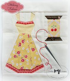 Stitching Fashion ~ My block for the Splendid Sampler | Charise Creates | Bloglovin'