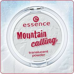 """hi beauties, the new mountain calling """"translucent powder"""" with a cool mountain embossment offers a flawless, matt finish. and since the powder is transparent, it suits every skin tone.  have you discovered this trend edition in stores yet?  #essence #cosmetics #makeup #trendedition #mountaincalling #winter"""